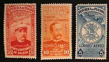 Panama Sc #C40-42 Mint Vlh Set 1937