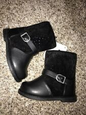 Gymboree Toddler 5 Boots Black Suede Tops NWT