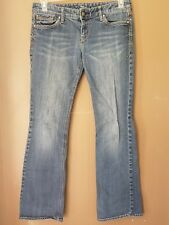 womens express jeans size 6 reg factory faded & distressed