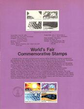 #8218 20c Knoxville Worlds Fair Stamps - Scott #2006-2009a  USPS Souvenir Page