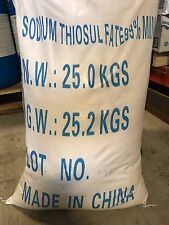 100% SODIUM THIOSULFATE Pentahydrate 50 lbs Bulk Package Na2O3S2 FREE SHIPPING