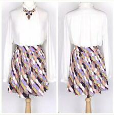 Banana Republic Factory Women's Size 8 Multicolored Pleated Skirt