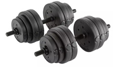 FITNESS 30KG DUMBELLS PAIR OF WEIGHTS BARBELL/DUMBBELL BODY BUILDING SET - BNIB