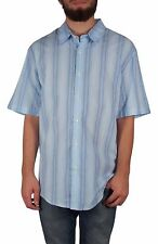 JA John Ashford Men's Size XLarge Blue Pattern Short Sleeve Button Down Top NEW