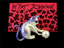 Charm Women's Brooch Pin Gift Betsey Johnson Purple Enamel Lovely Cat