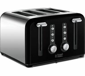 RUSSELL HOBBS Windsor 22832 4-Slice Toaster - Black - Brand New Sealed