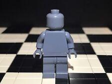 Lego Plain Sand Blue Minifigure Head Torso Hands Legs / Monochrome