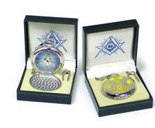 Silver Tone Square & Compass New Model! New Masonic Mason Pocket Watch Gold &