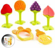 Baby Teething Toys for Newborn Infants (6-Pack) Freezer Safe BPA Free