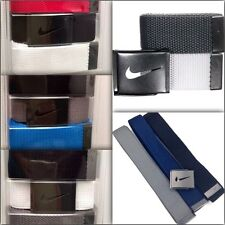 NIKE Men's Belt 3in1 One Sz Fit All*Black/White/Red/Blue-Gray Buckle 32-42 New