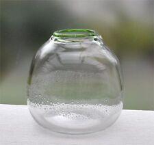 Eisch Glasvase grüner Rand Luftblasen-Dekor