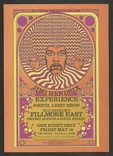 Jimi Hendrix Fillmore East Concert Postcard Handbill David Byrd Art Second Mint