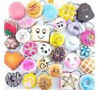 10Pcs Jumbo Medium Mini Random Squishy Panda/Bread/Cake/Buns Phone Straps OZ