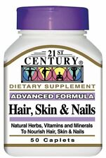 21st Century Hair Skin and Nails Vitamin Caplets 50 ct -Expiration Date 09-2020-
