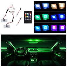 2 X 6LED T10 12V RGB Car Interior Dome Reading Light Lamp Bulb + Remote Control