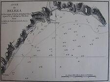 ANSE DE BELILLA ,1862, GAUTTIER, PLANS PORTS RADES MER MEDITERRANEE