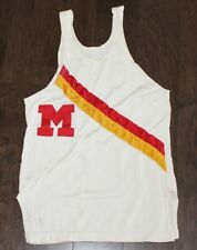 vtg TRACK & FIELD Jersey Tank Top Durene Block M Red Yellow SMALLS S #11 College