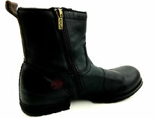 Replay Clutch Black Hiking Casual Zip Side Men's Boots  Size EUR.41 US.8.