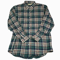 VTG LL Bean Men's Large Tall Button Down Plaid Flannel L/S Shirt Made in USA