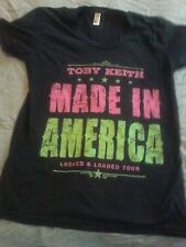 Toby Keith size large made in America locked and loaded Tourshirt sz large Women