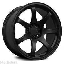 "XXR 551 17"" x 8.25J ET22 4x100 4x114.3 FLAT BLACK WIDE RIMS ALLOYS WHEELS Z2909"