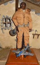 "1/6 Scale 12"" Custom GI Joe WWII Tuskeegee Airman Pilot loose"