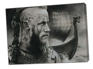Ragnar LothBrok Quote Viking Picture Photo Print On Framed Canvas Wall Art Home