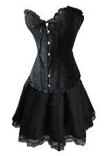 Corsage Kleid Mini Rock Petticoat Gothik schwarz  Wäschebeutel