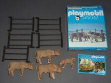 Altes Playmobil System Set Wild West Kühe mit Weide Zaun in OVP 3275