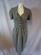REISS structured Grey wool blend dress Size 12