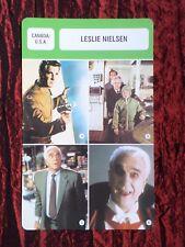 LESLIE NIELSEN  - MOVIE STAR - FILM TRADE CARD - FRENCH