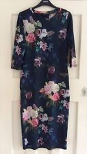 Topshop Navy Blue Floral and Butterfly Bodycon Dress, UK Size 12 Immaculate