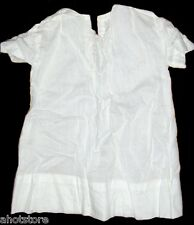 Antique Infant Baby Girls Dress White Vintage Hand Made England 1940's