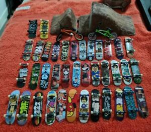 Large Lot Of Tech Deck Skateboards and Finger Boards and Accessories