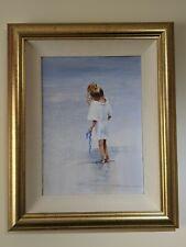 ORIGINAL JOHN HORSEWELL  Girl on the Beach 36 x 26cm