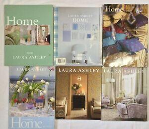 Lot of 6 Laura Ashley Home Catalogs 2000-2002 2013 2015 Interior Design Fabric