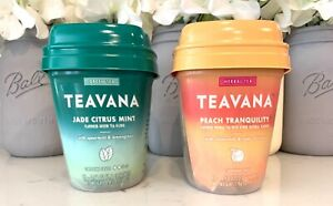 Teavana Jade Citrus Mint Green & Peach Tranquility Tea Starbucks Medicine Ball