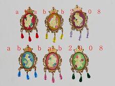 Yujin Disney Princess Figure Badge Gashapon (full set of 6 figures)