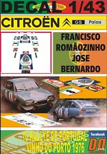 DECAL 1/43 CITROEN GS F.ROMAOZINHO R.PORTUGAL 1976 DnF (06)