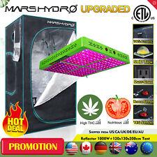 Reflector 1000W LED Grow Light Veg Flower Plant Indoor+4'x4' Grow Tent Kits