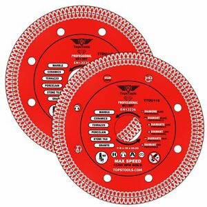 """2 x Grinder Mesh Turbo Diamond Clean Thin Cutting Discs For Tiles 115mm 4.5"""""""