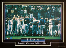 New York Yankees Rare 1998 World Series Champs Motivational TEAM Poster