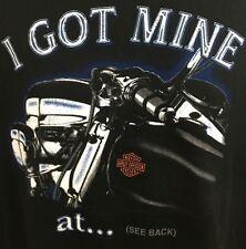 Mens Harley Davidson Motorcycles I Got Mine At Tripps Amarillo T-Shirt XL