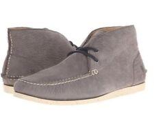 NEW FRYE Mens US 10.5 Mason Chukka Gray Nubuck Leather Moccasin Boots Shoes BOX