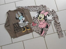 Lot 2 tee shirts manches longues Minnie 6/8 ans