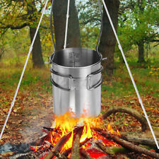 750ml Titanium Pot Water Mug Cup with Lid & Foldable Handle Outdoor