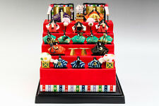 Japanese WASHI Paper Hand Made Craft Mini Hina Dolls Five Steps #7985