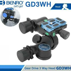 BENRO GD3WH Dreidimensionaler Getriebekopf Schwarz  Kamerastativkopf ★