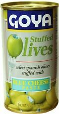 Goya Blue Cheese Stuffed Spanish Olives. 5.25 oz Free Shipping