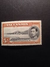 Ascension Island 1938 Sg46 5/- GVI  mounted Mint